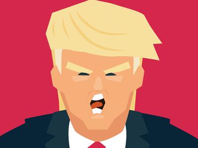 Trump portrait clinton hillary avatar illustration donaldtrump trump