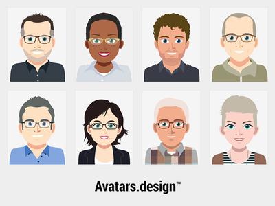 Avatars collection avatar face faces character illustration 2d flat avatars