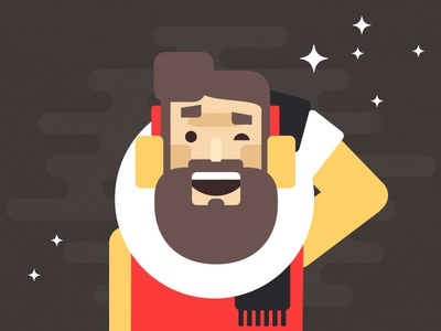 Avatar illustration identity design character avatar beard hipster lumberjack