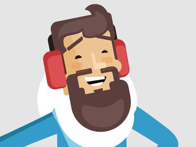 Eskimo hipster guy winter beard hipster animation illustration avatar design character guy eskimo