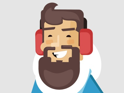 Guy3 winter illustration hipster guy eskimo design character beard avatar animation