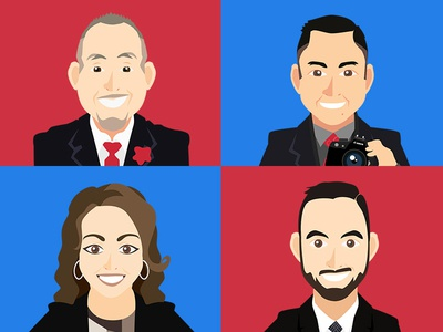 Avatars management team aboutus portrait avatar illustrator illustrations employees avatars company
