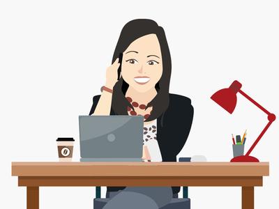 Avatar - Desk office desk website branding design avatars illustration logo animated gif avatar