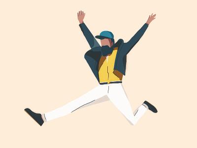 Illustration of a guy 2 guy character avatar illustration beard hipster handdrawn