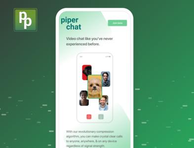 Piper Chat minimal ui ux design app