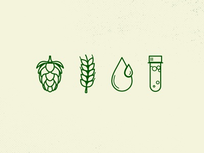 Beer Brewing Icons yeast water malt hops brewery icons iconography founders brewing beer
