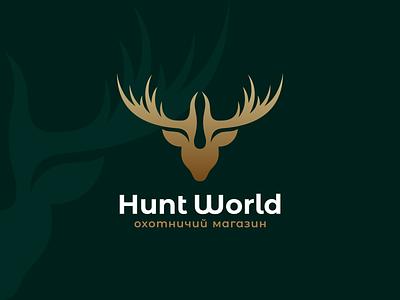 Hunt World hunt world logo branding