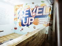 Level Up mural for Coffee Locale