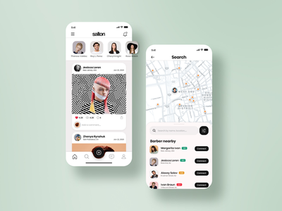 Find Barber App: UI concept