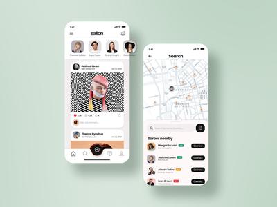 Find Barber App: UI concept daily ecommerce adobe experience web website user beauty interface design ux ui app barber salon