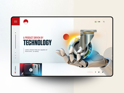 Muvtons: Castor Wheels Manufacturer | UI Concept inspiration clean homepage minimal graphic product castor wheels page landing website web experience interface user ux ui design