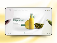 O2 Superfoods | Website UI Concept concept colorful drinks subscription simple health juice dribbble best shot branding homepage minimal experience user interface website ux ui design