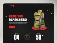 Amitoje Website | Kiosk Manufacturer design signages kiosk landing page dark ui user interface design product branding concept minimal homepage experience web interface website ux ui