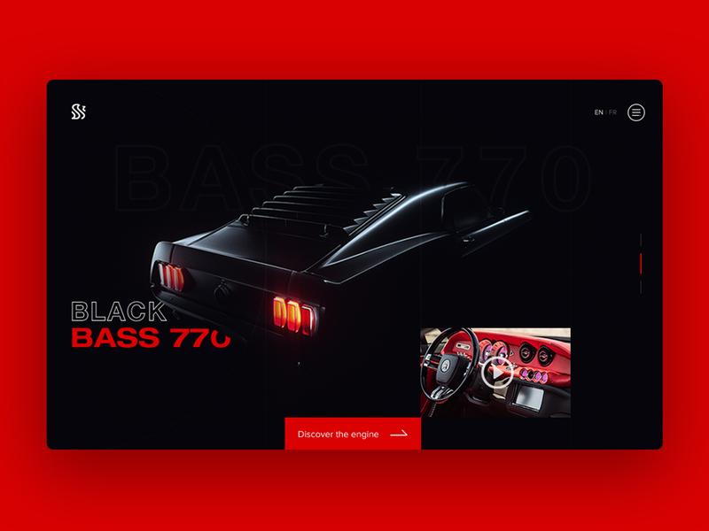 Black Bass 770 - UI design car website design car website website concept website design website uiux uidesign ui