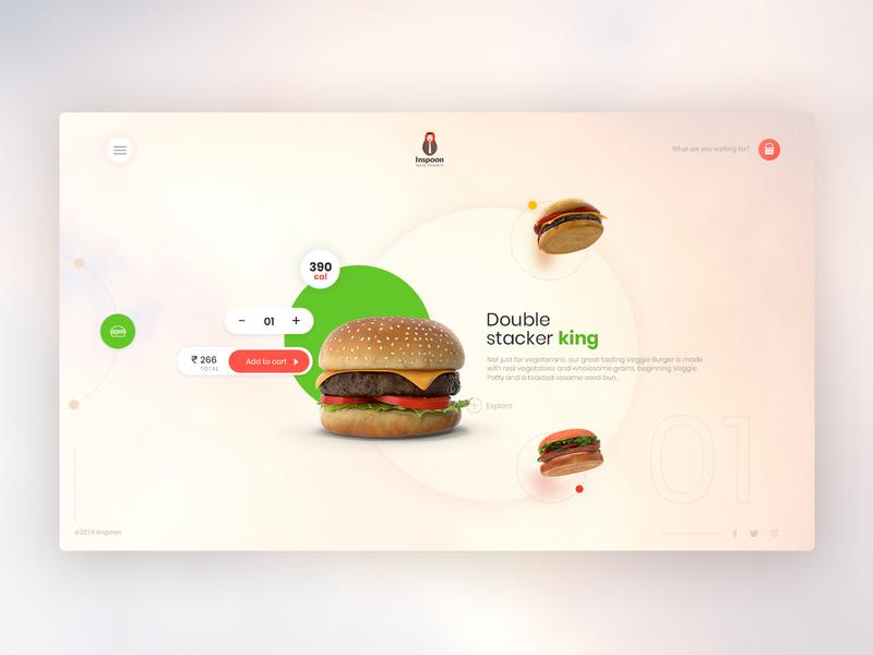 UI Concept - Burger Landing Page food delivery concept burger ui design website design uiux design website concept ui design