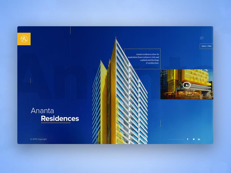 Ananta - Real Estate Landing Page real estate branding ui ux userinterface ui design website apartment real estate website design website concept