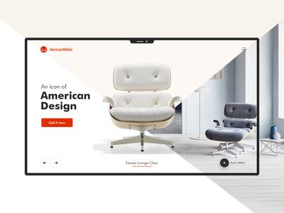 Furniture Landing Page | Daily UI user interface design product web design ux ui website furniture web-ui