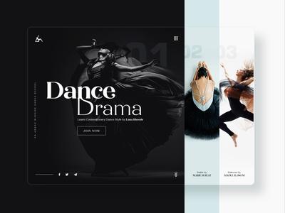 Dance School homepage | Daily UI web apps user interface homepage class school web design website ux ui dance