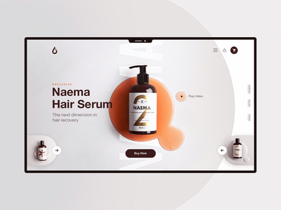 Hair Product Concept | Daily UI daily clinic ecommerce medical drug medicine serum hair ux ui design web website
