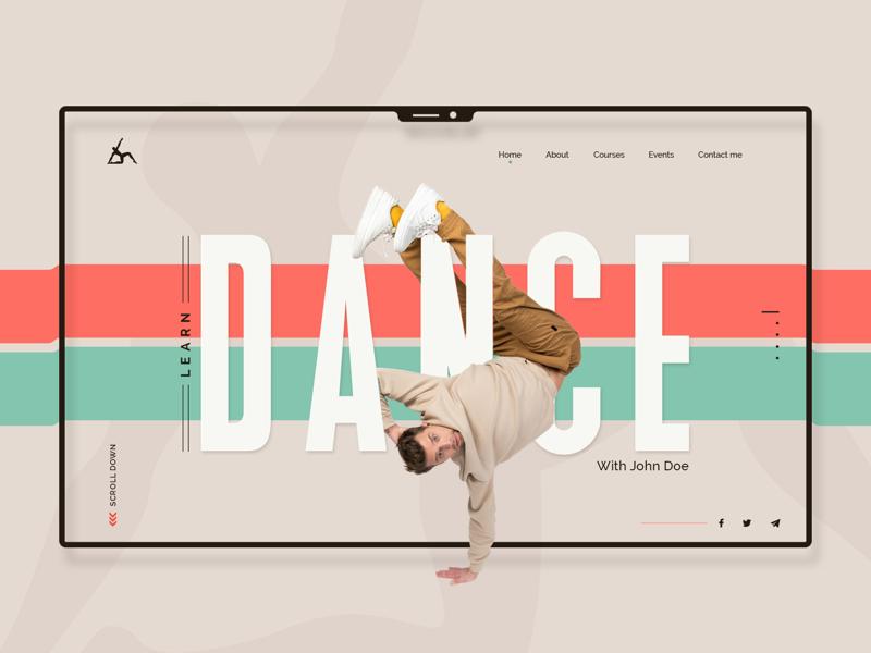 Dance Class Website   UI Concept ideas concept experience art design web user interface music ux ui website dance