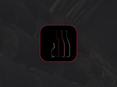 Wine app icon concept daily ui 005 logo minimalist wine app icon