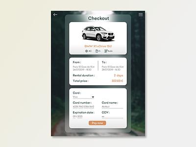 Checkout page rental car checkout daily ui 002 app ui ui adobe xd