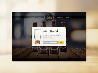 Newsletter Pop-Up web brewery beer daily ui 016 popup ui