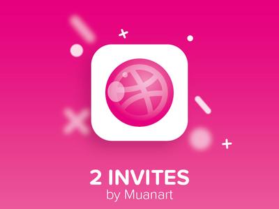 2 Dribbbble invites