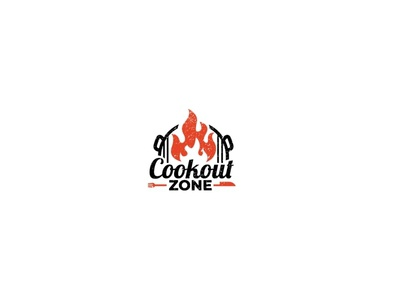 Cookout ZONE typography flat illustrator branding graphic design vector logo minimal illustration design
