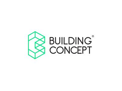 Building Concept b letter branding brand designer logo design studio company architecture cube geometric abstract