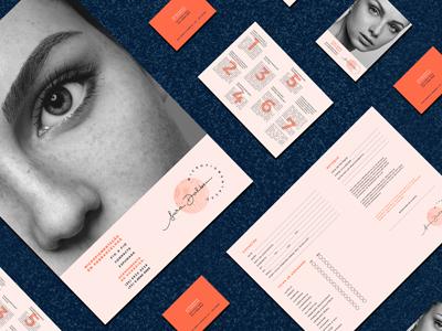 Dribbble Thumb blue salmon black and white photography orange eyebrow beauty branding logo visual identity