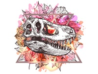 T Rex Skull. Nature Morte