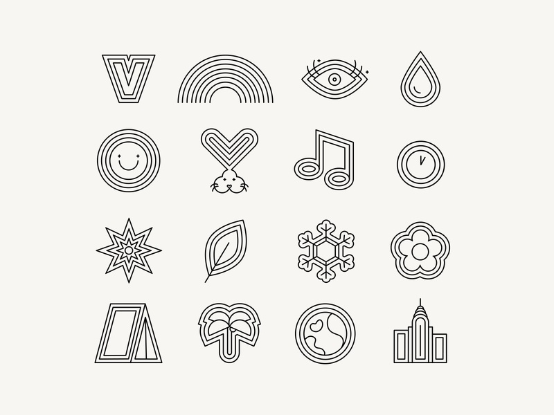 Custom Icons, Overtone Rebrand line art line icons hair brand hair dye brand hair product icon family icon icons custom branding identity branding brand extension custom illustrations illustrations icon design iconography icon set custom icons overtone rebrand