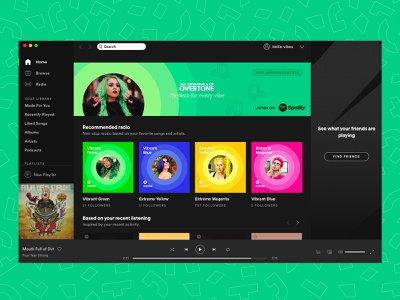 Spotify Playlists, Overtone color playlist music brand partnership playlist art conditioner haircare bottle design package design packaging design playlists overtone spotify ux brand design ecommerce identity color logo branding