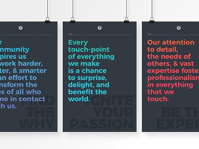 MMI Branding / Value Posters illustrator series poster minimal color flat typography branding design