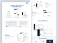 UX Toolkit for Figma - Landing Page wireframes webflow figma user flow testimonials flowchart ux landing page