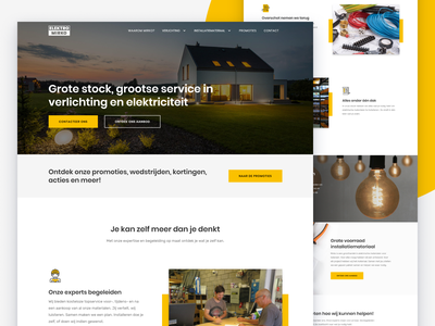 Elektro Mirko belgium local business javascript html css webflow figma light lighting electricity ui ux website landing page