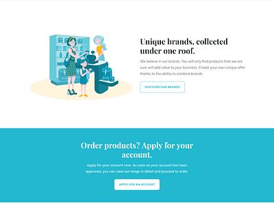 Manchild belgium landing page website illustration shop distributor javascript html css webflow figma toys ui ux local business