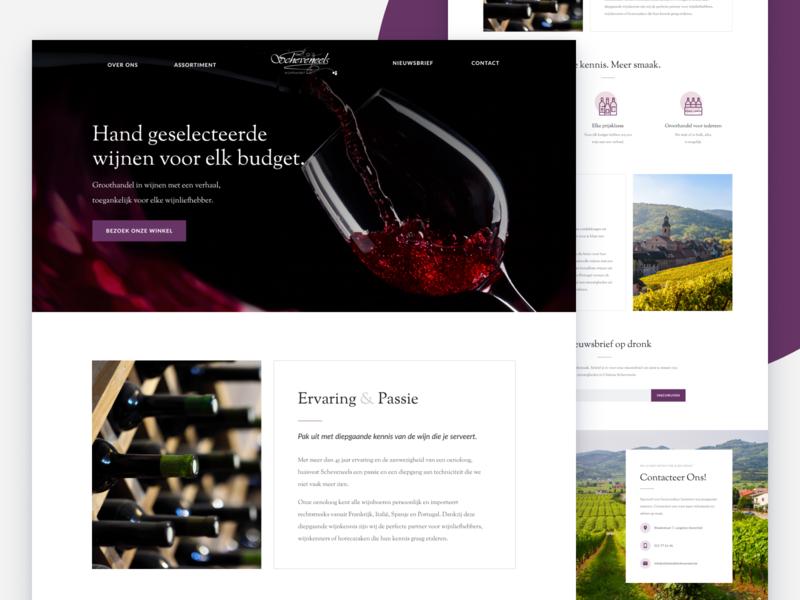 Scheveneels belgium javascript html css wine shop website landing page local business webflow figma ui ux alcohol shop wine