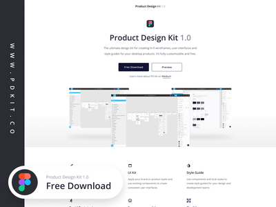 FREE Product Design Kit for Figma figmadesign poland ux landing page free ui design toolkit wireframe kit ui-kit freebie figma