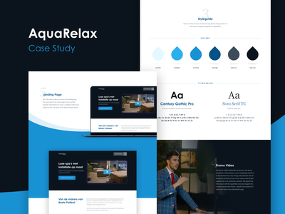 AquaRelax - Case Study video branding user experience jacuzzi spa relax aqua poland belgium website logo design system styleguide case study