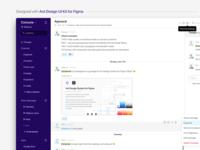 Slack - designed with Ant Design UI Kit for Figma