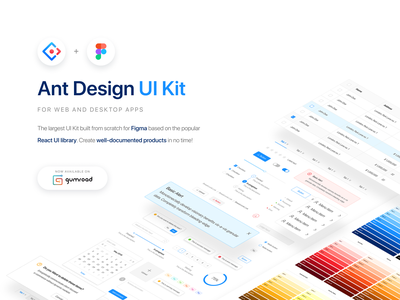Ant Design UI Kit for Figma assetstore asset ui kit dashboard poland ui ux design system figma
