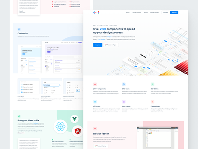 Ant Design System for Figma - Website redesign uikit webflow landing page design system figma