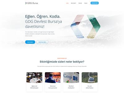 Google Developers Group Bursa Landing Page jumbotron landing web design