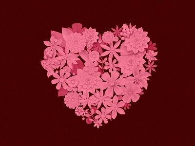 Flowers Heart valentine pink illustration photoshop flowers heart