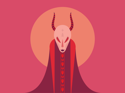 Red Devil creature horns vector character illustrator illustration demon devil red