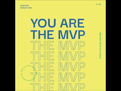 MVP card card design monoline illustrator typography mvp