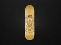 Laser Engraved Monk Skateboard