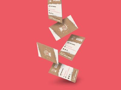 Purpose Pops Business Cards shot free throw photoshop mockup identity fruit logo branding stationery business cards